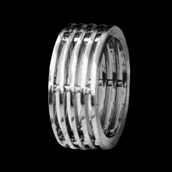 Обручальное кольцо белое золото 1