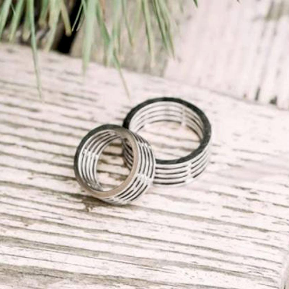 Обручальное кольцо белое золото