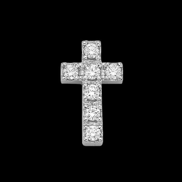Подвеска в белом золоте с бриллиантами