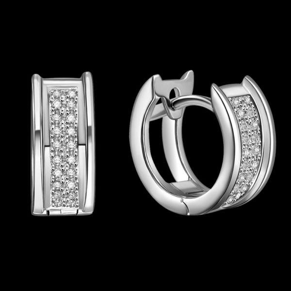 Серьги в белом золоте с бриллиантами 1