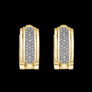 Серьги в желтом золоте с бриллиантами