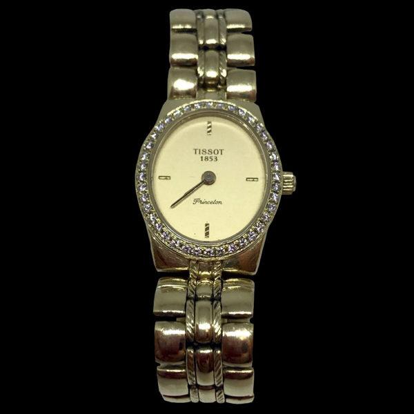 Часы в желтом золоте с бриллиантами