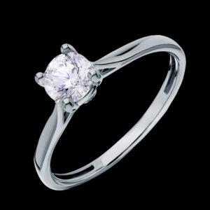 Кольцо в белом золоте с фианитами
