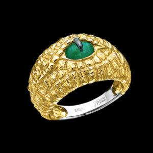 Кольцо в желтом золоте с ониксом