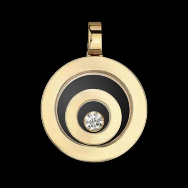 Подвеска в желтом золоте с бриллиантом