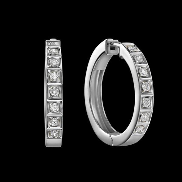 Серьги в белом золоте с бриллиантами
