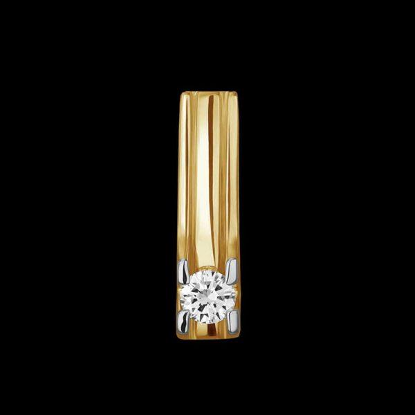 Подвеска в желтом золоте c бриллиантом