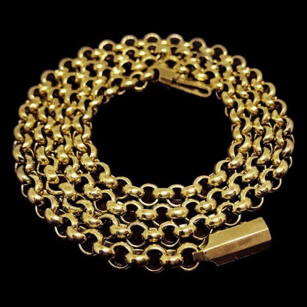 Цепь в желтом золоте
