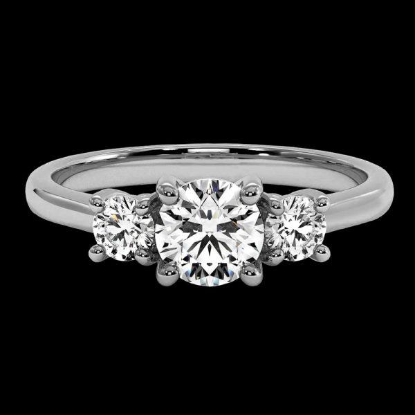 Кольцо в белом золоте с бриллиантом