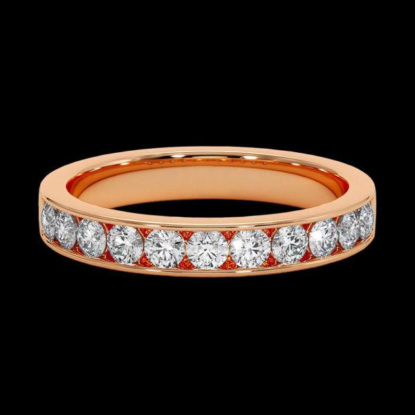 Кольцо в красном золоте с бриллиантами