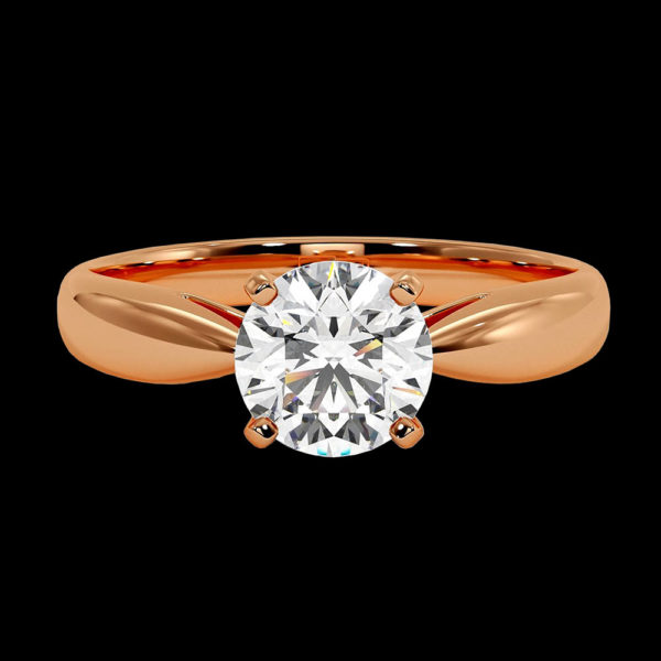 Кольцо в красном золоте с бриллиантом