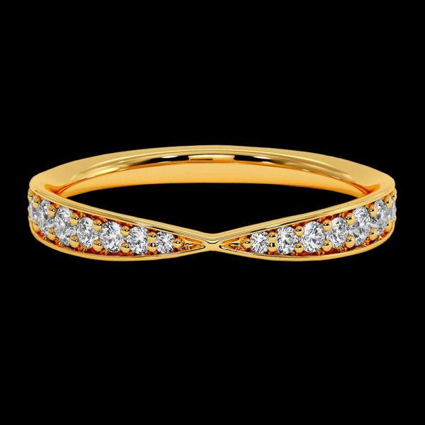 Кольцо в желтом золоте с фианитами