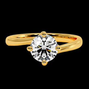 Кольцо в желтом золоте с бриллиантом