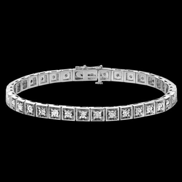 Браслет в белом золоте с бриллиантами