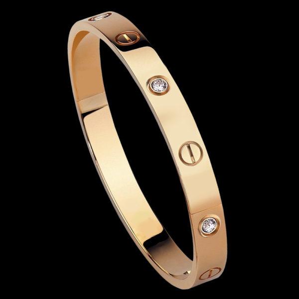 браслет желтое золото с бриллиантами
