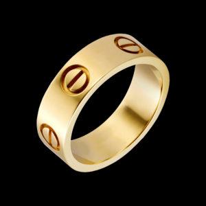 обручалка в желтом золоте