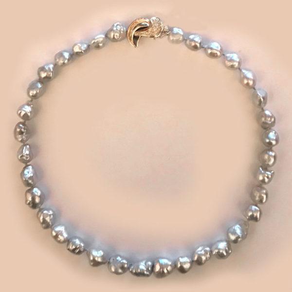 Колье жемчуг бриллианты