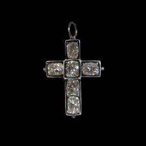 Серебряная подвеска с бриллиантами